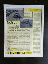 Vintage 1931 John Deere Farm Tractor Full Page Color Ad - $9.49