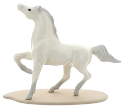 Hagen-Renaker Miniature Ceramic Horse Figurine Wild Arabian on Base White image 5