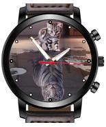 Positive Attitude Cat And Lion Shadow Unique Wrist Watch FAST UK - $45.00