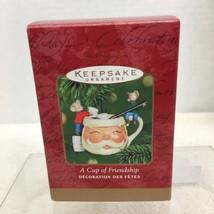 2001 Cup of Friendship Hallmark Christmas Tree Ornament MIB Price Tag H6 - $22.28