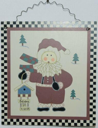 MEI Creations BS90072XM Christmas Snowman Santa Wooden Wall Decoration