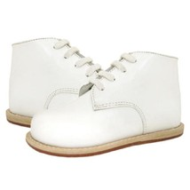 Josmo Boys White Leather Lace Up Boots Baby Size 7.5 E US - £23.01 GBP