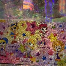 Vintage Lisa Frank Complete Zodiac Horoscope Astrology Divas Sheet Prism Holo image 3