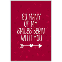 So Many of Smiles Begin with You Love Gift Wall Art - $6.44+
