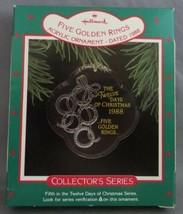 Hallmark Twelve Days of Christmas 1988 #5 in Series with Box Five Golden... - $7.00