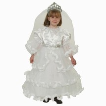 Deluxe Fancy White Bride Dress Children's Costume, Medium 8-10 - $19.79