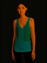 Calvin Klein Women's Performance Vent-Back Tank Top, Pistachio, XL - $11.47