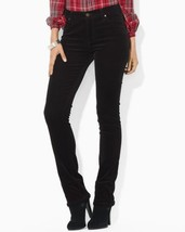 Nwt Ralph Lauren Polo Womens Size 4 Black Corduroy Slim Fit Stretch Jeans - $47.47