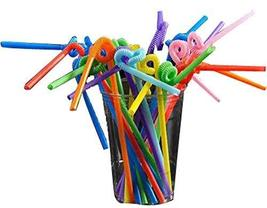 Set Of 100 Creative Art Straw Color Plastic Straws Tea Art Straw - $10.80