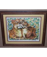 "Rare & Original Hand Signed Paul Ravelle ""Lions"" Framed Color Litho Art ... - $295.00"