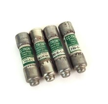 LOT OF 4 COOPER BUSSMANN FNQ-R-1/4 TIME DELAY FUSES 600V, FNQR1/4
