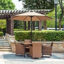 OC Orange-Casual 7.5 ft Patio Umbrella Outdoor Table Market Umbrella wit... - $36.16