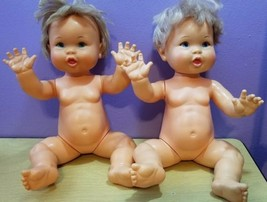 """Lot of 2 Vintage Ideal 1973 Rub-A-Dub Dolly dolls 16"""" #1 & #4 - $29.28"""