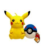 Pokemon Pikachu Pokeball Plush Set Blue Great Ball Nintendo Stuffed Toys... - $13.77