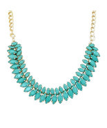 Crunchy Fashion Ocean Blue Crystal Heart Neckla... - £25.70 GBP