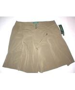New Womens Office Dress Shorts 10 Olive Green Silky Ralph Lauren Work NW... - $51.60