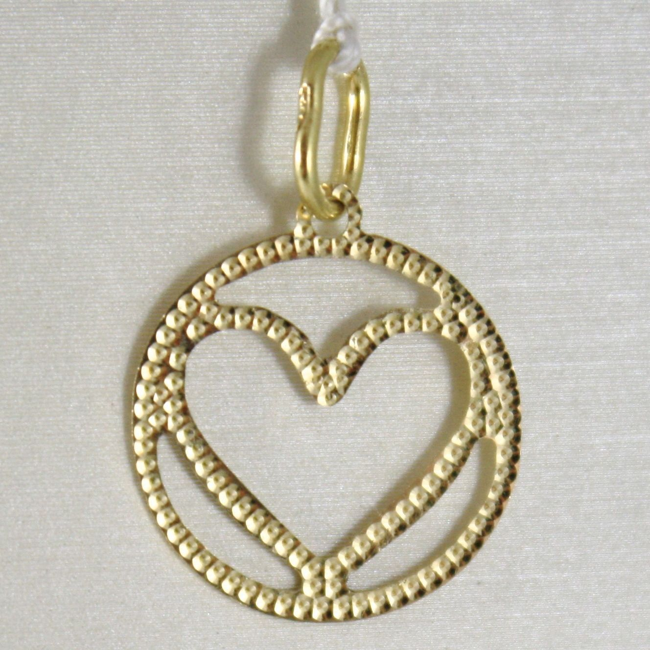Pendant Gold Yellow or White 750 18k, Heart, finely worked, Made in Italy