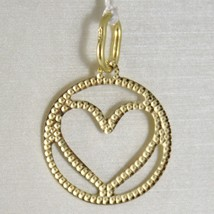 Pendant Gold Yellow or White 750 18k, Heart, finely worked, Made in Italy image 1