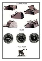Odd Fellows: Ballot Boxes, Seals, Seal Press - Art Print - $19.99+