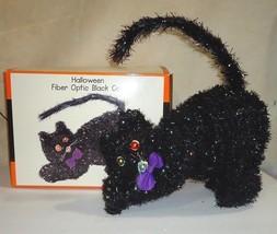 HALLOWEEN Fiber Optic Black Cat Life Size Color Change n Box Inserts MIN... - €31,98 EUR