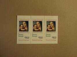 USPS Scott 2514a 25c Antonello Christmas 3 Books 1990 60 Stamps Mint Boo... - $42.22