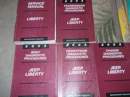 2003 Jeep Liberty Service Repair Shop Manual Set W Diagnostics Procedures Books - $143.50