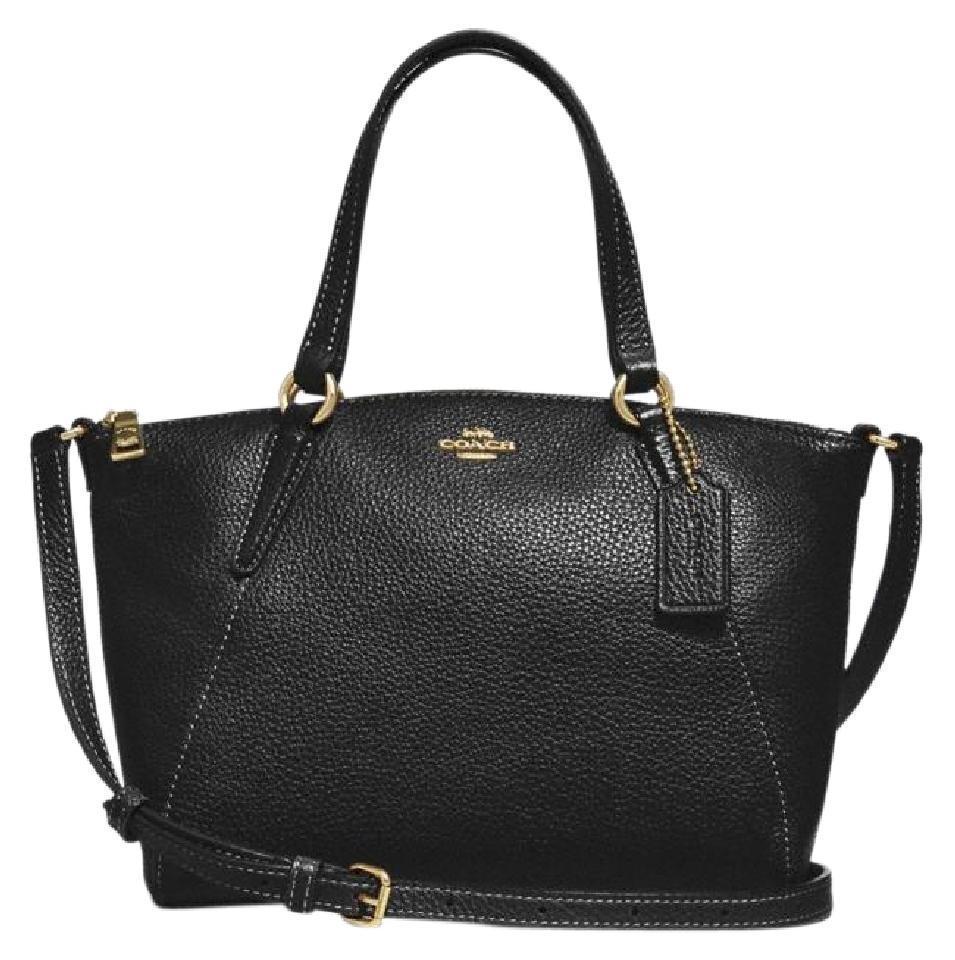 S l1600. S l1600. Previous. NWT Coach F28994 Pebble Leather Mini Kelsey  Satchel Shoulder Purse Handbag Black e202d9f5f4dfa