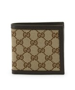 NEW Gucci Brown Canvas Leather Micro GG Guccissima Bifold Wallet Coin Pouch - $303.88