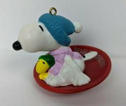 Hallmark Keepsake Ornament Snoopy and Woodstock Beagle Express Peanuts 1... - $9.90