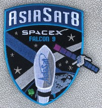 """ASIASAT 8 - AUTHENTIC SPACEX FALCON 9  4.5"""" SATELLITE SPACE Mission PATC... - $8.95"""