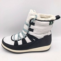 Kamik Womens Vulpexlo Winter Boots Gray Heathered Lace Up Faux Fur Lined... - $54.02