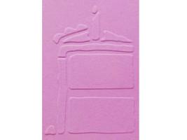 Sizzix Metal Embossing Plate, Birthday Cake Slice #38-9632 image 2