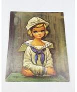 Vintage Winde fine Litho prints sailor girl by Eden No. 322 - $17.82