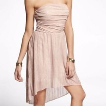Express Women's Strapless Chiffon Sequin Hi-Lo Hem Dress Ruched Size 10 - $39.50
