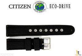 Citizen Eco-Drive BM8475-00E 22mm (LONG) Black Nylon Watch Band BM8475-00F - $53.95