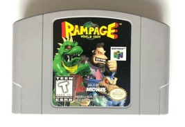 ☆ Rampage World Tour (Nintendo 64 1997) AUTHENTIC N64 Game Cart Tested W... - $29.99