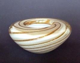 Mid Century Italian Murano Venetian  Art Glass Gem Bowl Circa 1950's - 1960's - $98.95