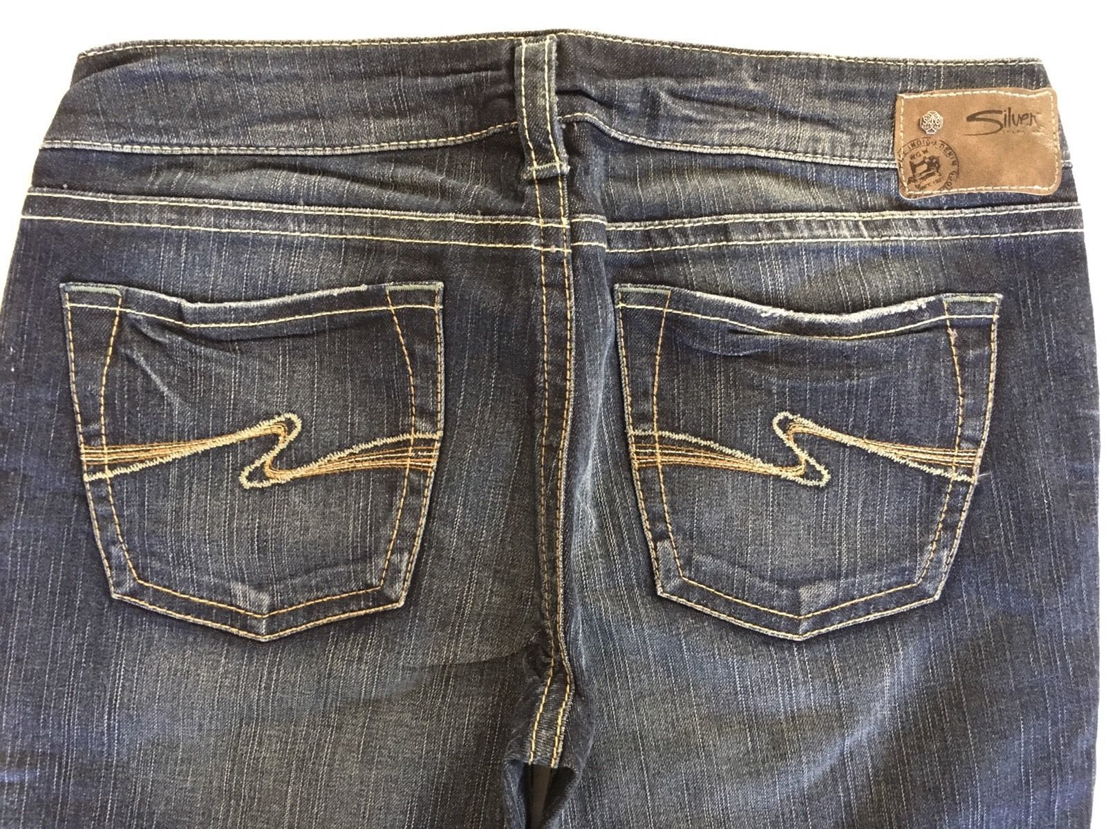 New SILVER Jeans Sale Buckle Dark Mid Rise Aiko Denim Jean Stretch Shorts 32