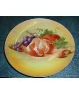 "Antique Carnival Luscious Fruit Plate 9-1/2"" Grapes Oranges Apples - XMA... - $7.75"