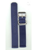 Seiko Man's 18mm Blue Stainless Steel Watch Band AU05549N 7S26-02J - $29.70