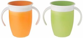 Munchkin Miracle 360 Trainer Cup, Green/Orange, 7 Ounce, 2 Count - $16.38