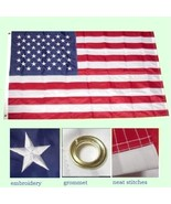 ALBATROS 2 ft x 3 ft Embroidered USA United States 50 Stars 210D Sewn Ny... - $38.93