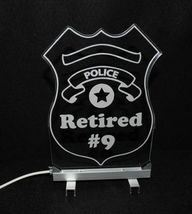 Personalized Police Badge LED Sign - Policeman image 4