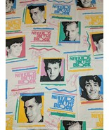 New Kids On The Block Twin Sheet & Fitted Set Fabric Material 90s Wahlbe... - $29.69