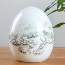 Antique Jingdezhen Ceramic Vase Snow Scenery Lucky Egg Home Decoration F... - $34.91