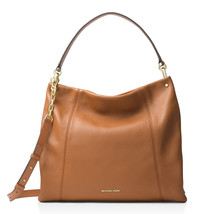 Michael Kors Lex Large Leather Convertible Hobo Bag Purse Acorn New NWT $368 - $196.56
