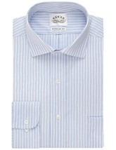 Eagle Shirtmakers Non-Iron Danish Blue Stripe Dress Shirt 15 32/33 - €19,62 EUR