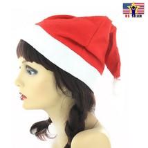 US Wholesale High Quality Santa Felt Christmas Xmas Cap Red Hat Santa Claus Hats - $3.76+