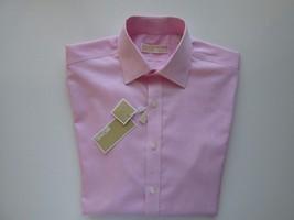 Michael Kors Spread Twilled Men's Dress Shirt White Pink Stripes 15.5 | ... - €30,99 EUR