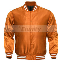 Letterman Baseball College Varsity Bomber Sports Wear Super Jacket Orang... - $49.98+
